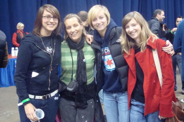 Alyse LaHue, Emma Hayes, Kait Sawyer and a guest in 2009