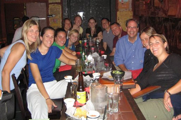 2008 Chicago Red Stars staff at dinner