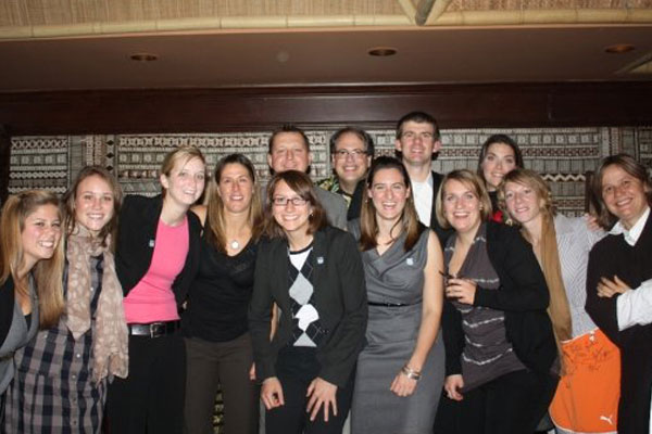 Chicago Red Stars staff at the Trader Vics Charity Event in 2009